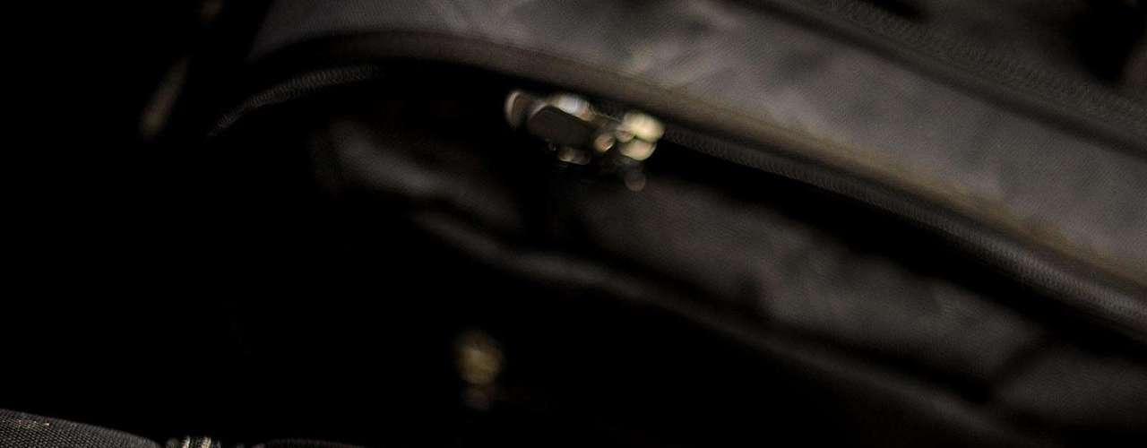 As malas dos corintianos foram devidamente identificadas para não se perderem pelo caminho