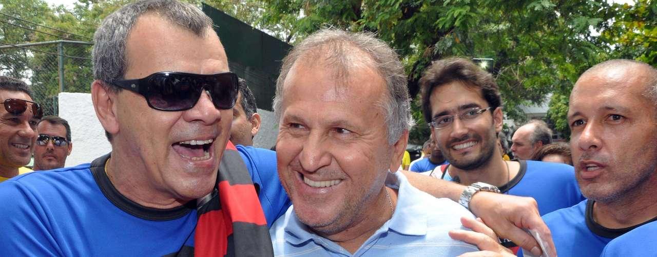 Em sua chegada na Gávea, o ídolo flamenguista Zico foi ovacionado pelos sócios rubro-negros