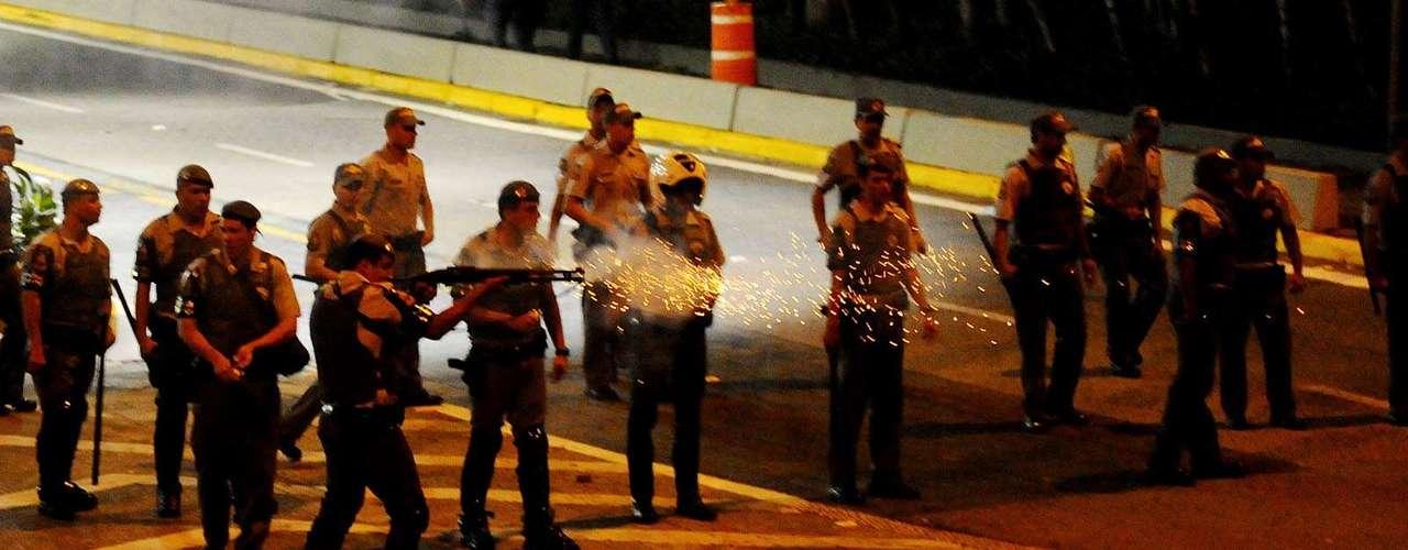 Balas de borracha foram atiradas pela polícia