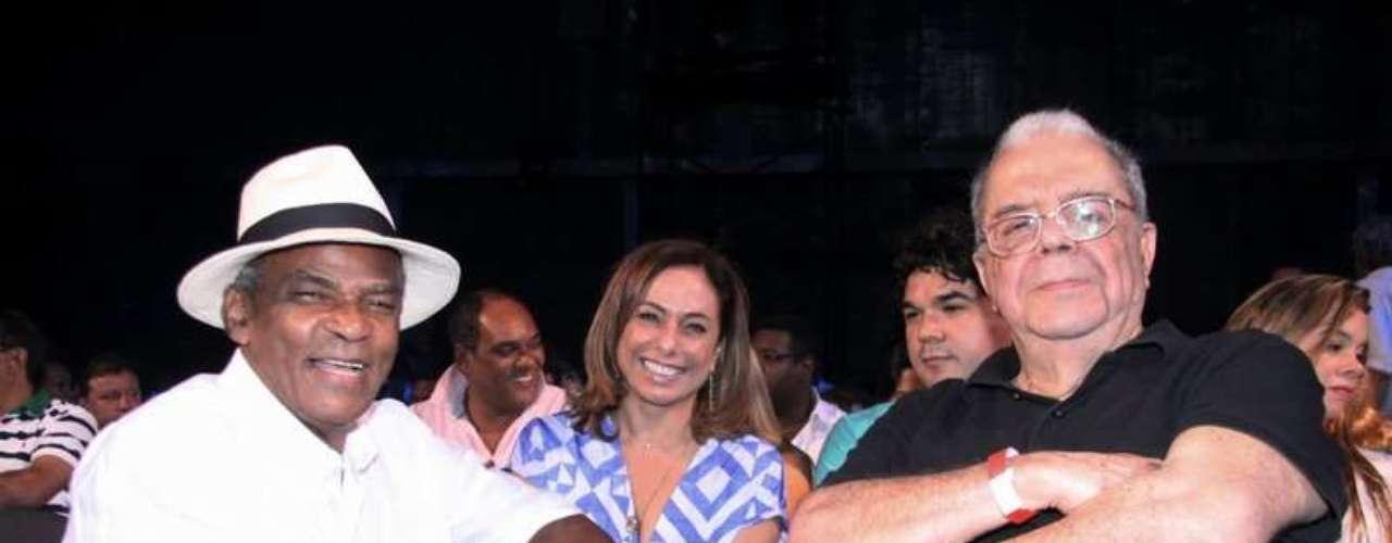 Antônio Pintanga e Sérgio Cabral, responsável pela direção artística dos shows