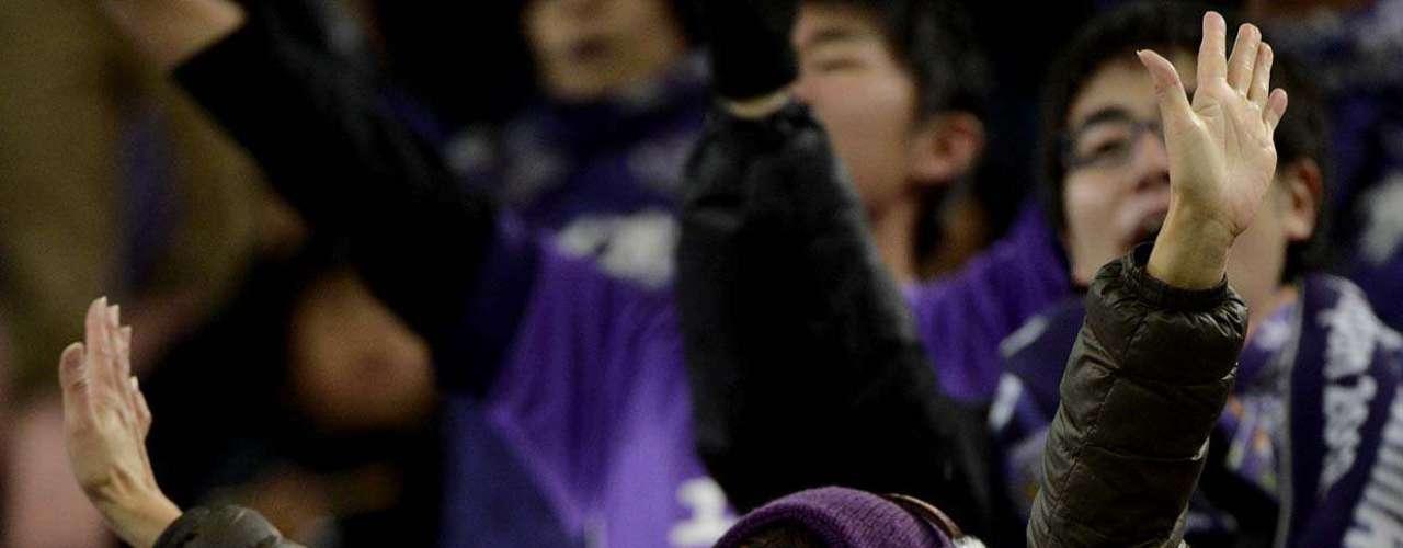 Torcedora apoia equipe do Sanfrecce Hiroshima