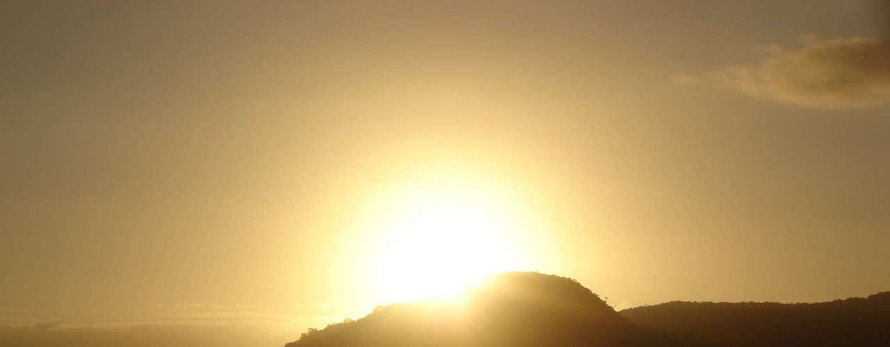 24 de dezembro - O dia começou com sol em Balneário Camboriú, em Santa Catarina