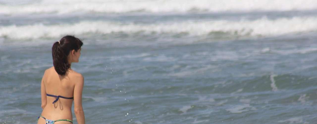 26 de dezembro- Muitas pessoas aproveitaram o dia ensolarado para se refrescar nas praias da capital catarinense