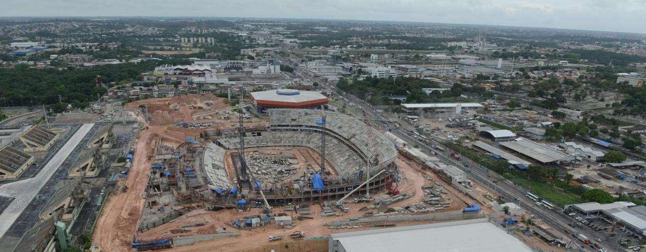 8 de janeiro de 2013: O estádio amazonense receberá quatro partidas do Mundial do ano que vem - uma delas do Grupo A, que terá a Seleção Brasileira