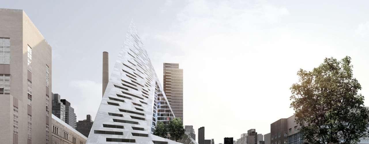 W57 Pyramid, Nova York, Estados Unidos: edifício residencial com 600 apartamentos, situado entre as avenidas 56 e 57 de Manhattan, o W57 Pyramid promete trazer muita inovação a Nova York. Visto de um ângulo, o prédio, com previsão de lançamento para 2015, aparece como uma pirâmide, de outro, como uma torre com diferentes terraços. Os habitantes terão uma vista panorâmica sobre o Rio Hudson, num incrível oásis urbano