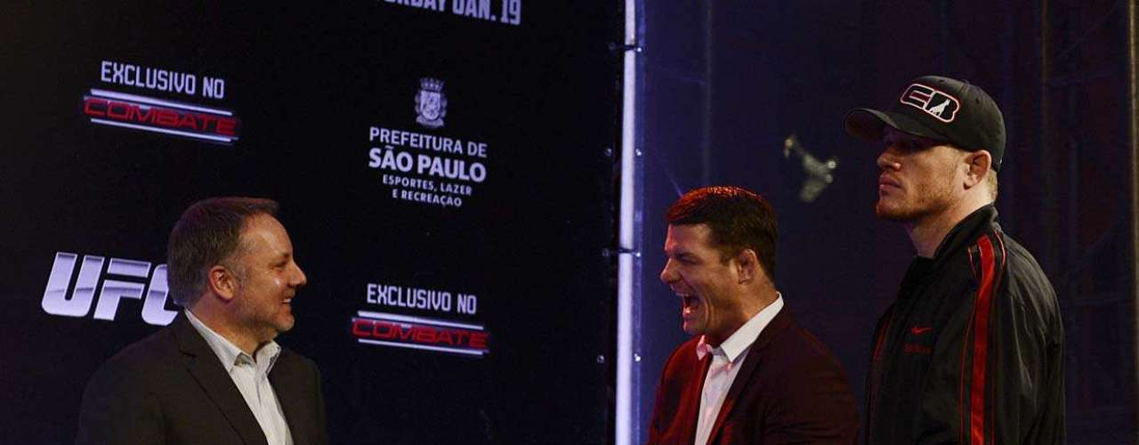 Inglês Michael Bisping e americano C.B. Dollaway vão enfrentar brasileiros no Ginásio do Ibirapuera