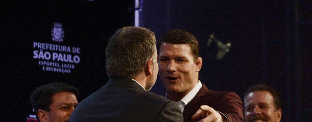 Bisping não levou a sério a irritação de Belfort, e deu risada do nervosismo do carioca