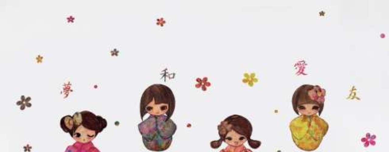 Quem gostou das bonecas pintadas na parede também pode encontrar uma alternativa nos adesivos decorativos. O modelo Kokeshis, da I-Stick, possui o desenho de quatro bonequinhas japonesas. O adesivo de 25 cm por 31 cm custa R$ 99