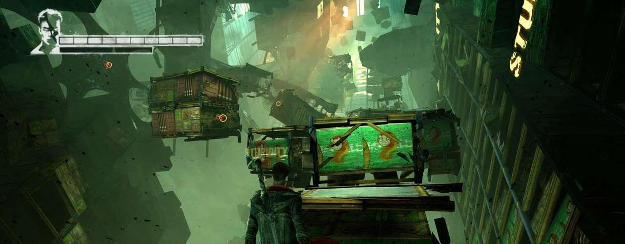 Com todas as fases se passando no Limbo, o visual chama atenção por mostrar partes de prédios destruídos e outros pedaços se movendo ao redor de Dante