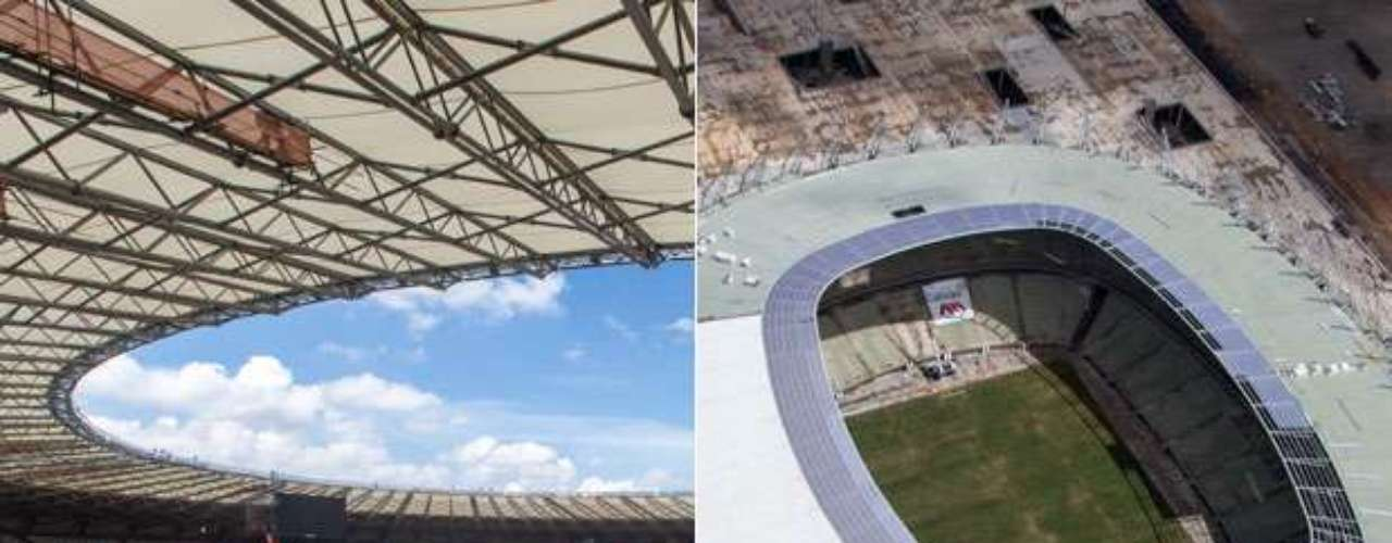 A 500 dias do início da Copa do Mundo, apenas dois estádios foram oficialmente entregues: o Mineirão (à dir.) e a Arena Castelão (à esq.). Com dados do Ministério do Esporte, saiba nas imagens a seguir quanto custarão e qual a situação atual de cada um dos locais que receberão o Mundial: