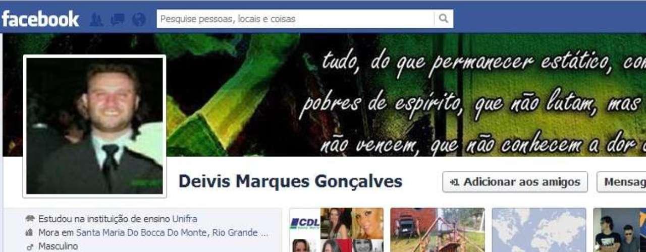 Morador de Santa Maria, Deivis Marques Gonçalves era irmão de Gustavo Gonçalves, que também morreu na tragédia