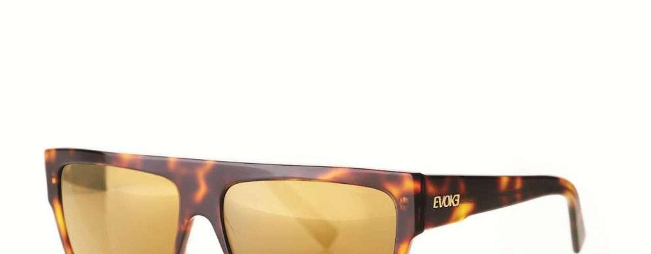 Os óculos espelhados sãoda Evoke. Preço: R$ 749,90. Informações: (11) 3034-3690