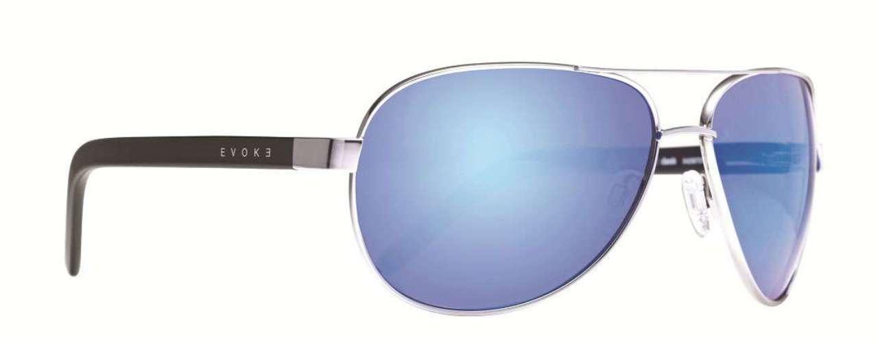 Lente espelhada azul é uma das opções da Evoke. Preço: R$ 699,90. Informações: (11) 3034-3690