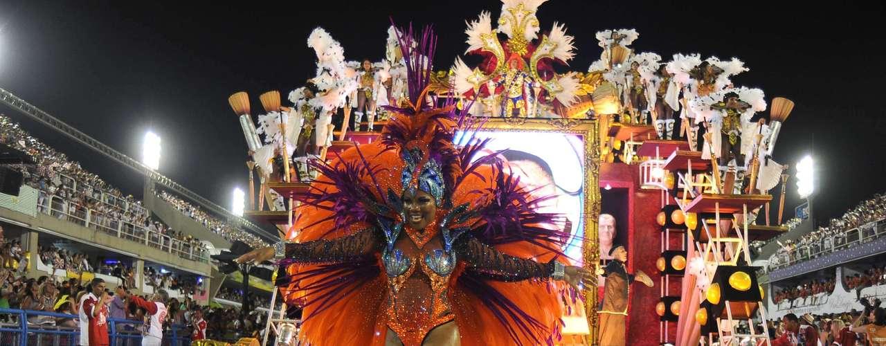 Detalhe do desfile do Salgueiro