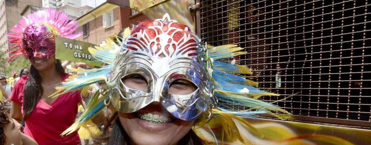 Folionas utilizaram máscara para se divertir
