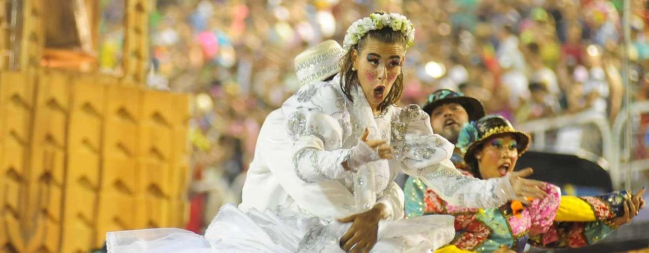 Detalhe do desfile da Vila Isabel no Carnaval do Rio de Janeiro
