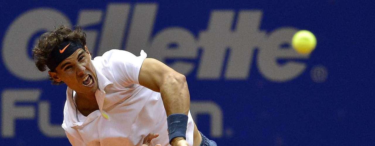 Rafael Nadal teve bom desempenho nos saques durante o jogo
