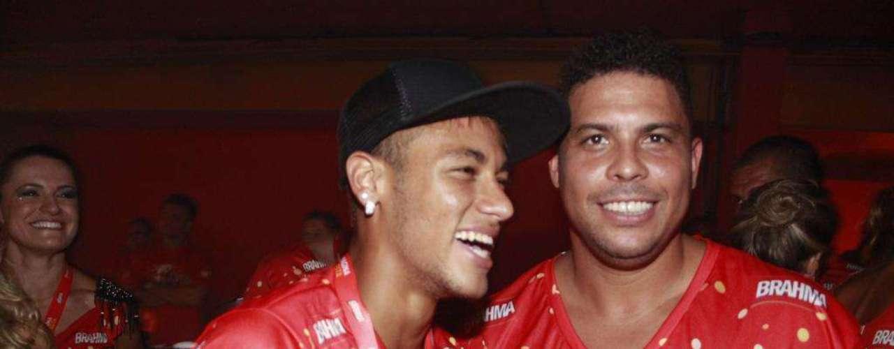 O ex-jogador de futebol também aproveitou o tempo para se divertir com Neymar