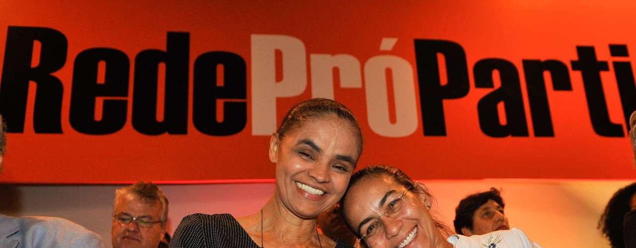 Heloísa Helena (Psol) participou do lançamento da Rede, em Brasília
