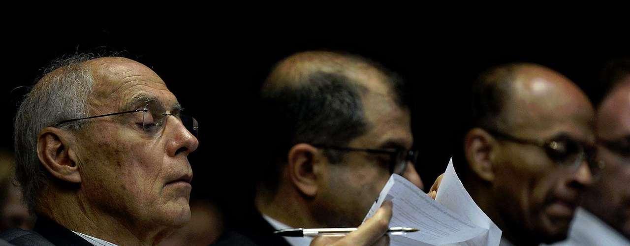 O senador Eduardo Suplicy (PT-SP) acompanhou a entrevista de Yoani Sánchez