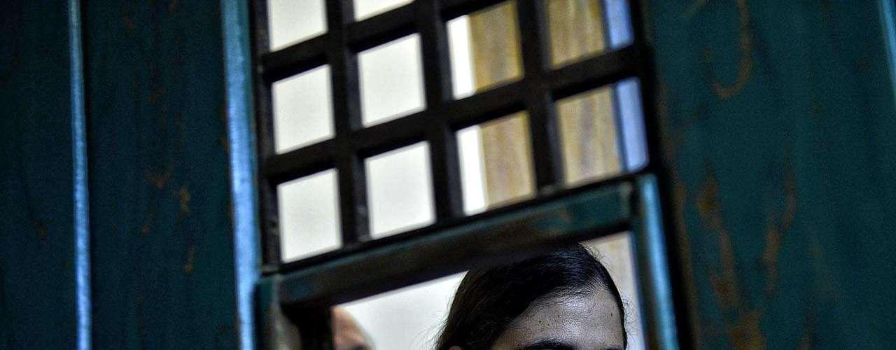 Ao lado do governador Geraldo Alckmin (PSDB), ela visitou as celas onde ficavam os presos políticos