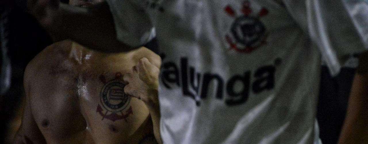 Clima na Gaviões esquentou durante jogo do Corinthians