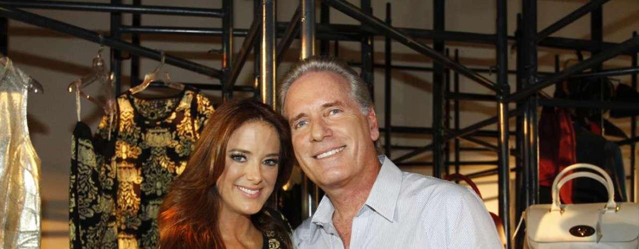 O casal Ticiane Pinheiro e Roberto Justus