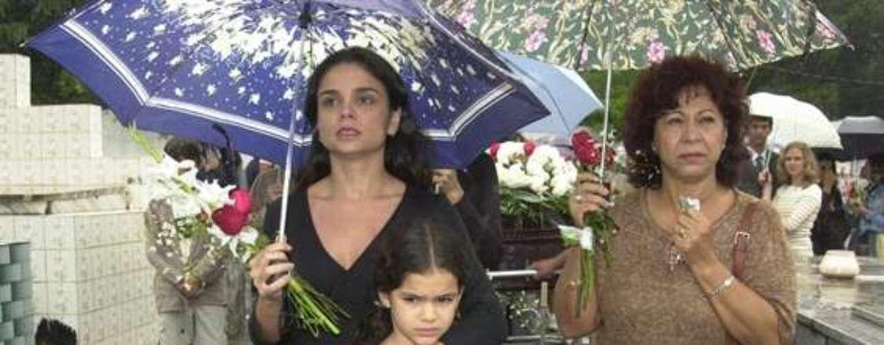 Marquezine com parte do elenco danovela 'Mulheres Apaixonadas', de 2003