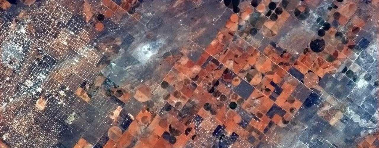 Esta imagem de 8 de março mostra o uso da terra em uma zona rural no Estado americano do Texas