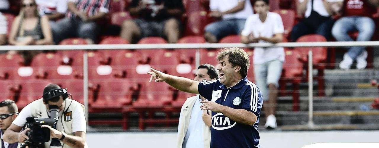 Gilson Kleina orienta a equipe do Palmeiras