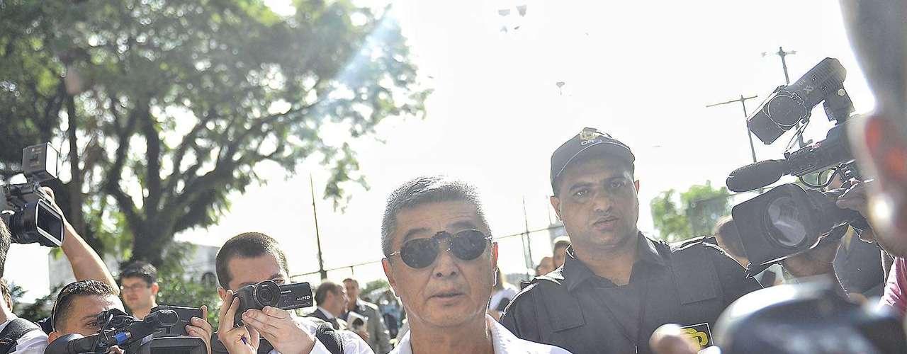 11 de março O pai da vítima chega ao Fórum de Guarulhos