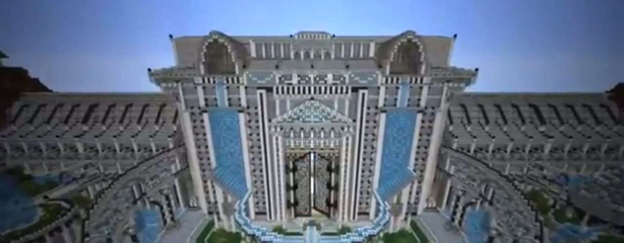 Construído pelo usúario jamdelaney1, City of Adamantis é um projeto de mais de 60 milhões de blocos com arquedutos, colunas e cúpulas imponentes, segundo o site 'Wired'