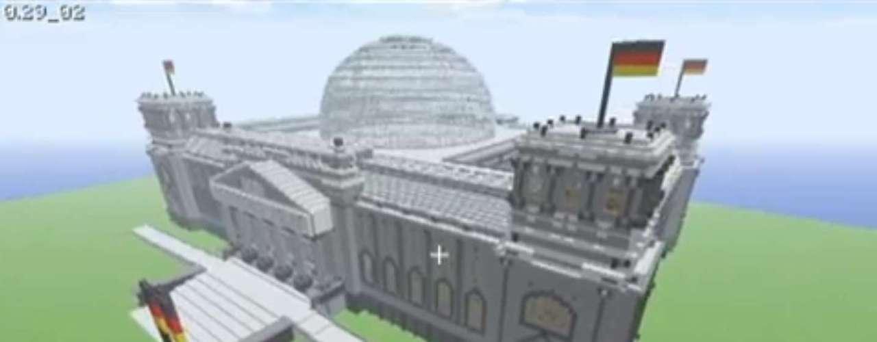 O Palácio do Reichstag, sede do parlamento alemão, também foi reproduzido