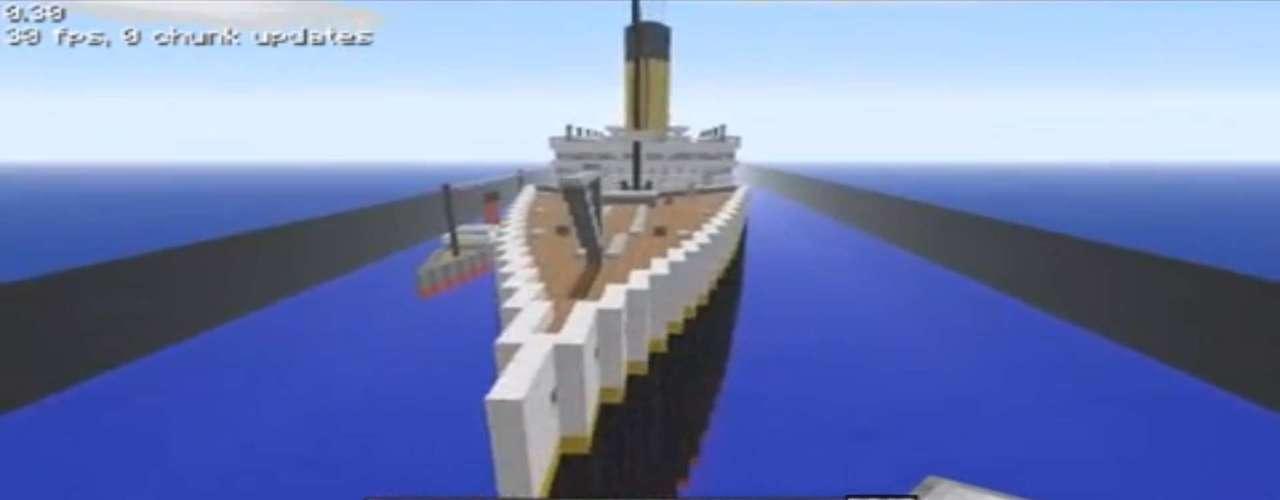 O Titanic também foi lembrado no jogo de blocos