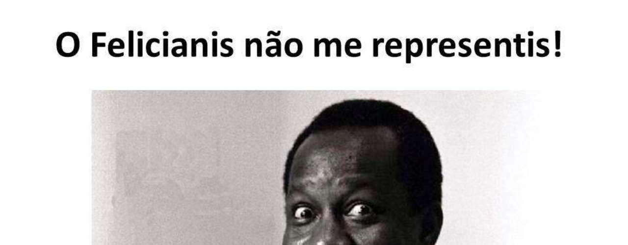 Até a imagem do humorista Mussum foi usada no protesto contra as declarações racistas de Feliciano