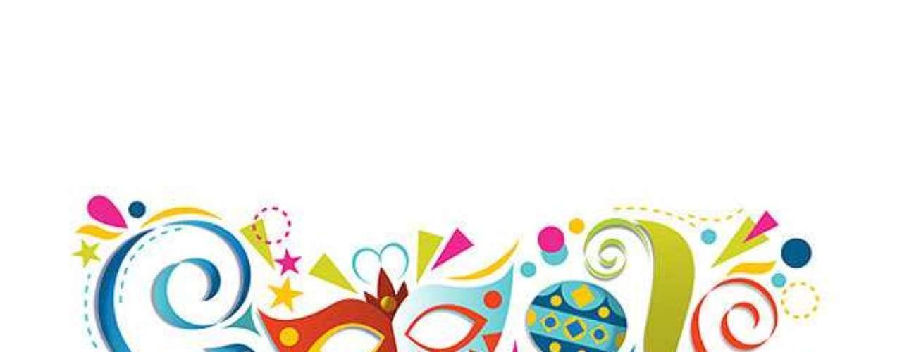 12 de fevereiro - Carnaval (Brasil) - O mesmo desenho foi usado para comemorar os carnavais argentino e colombiano