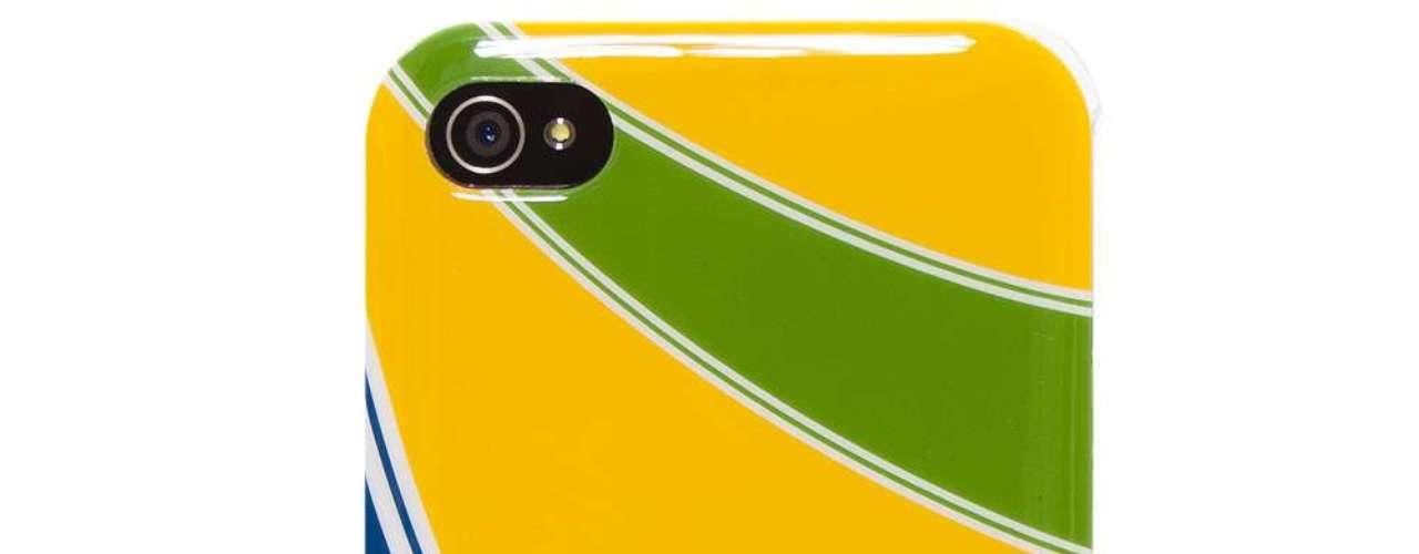 Capa iKase Ayrton Senna Capacete para iPhone 44S, do Ponto Frio. Preço: R$ 78,33. Informações: (11) 4003-8388