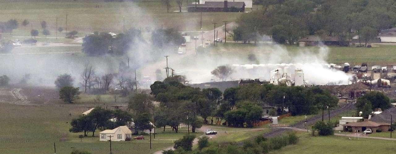 18de abril -Imagem mostra área residencial próxima ao local da explosão
