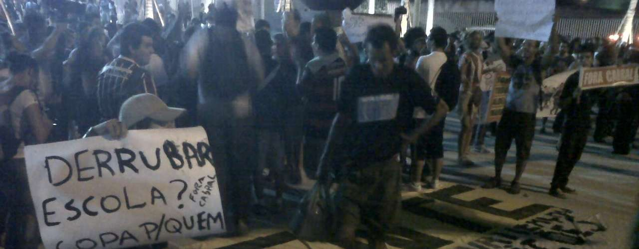 Manifestação foi pacífica e não gerou muitos problemas para a polícia