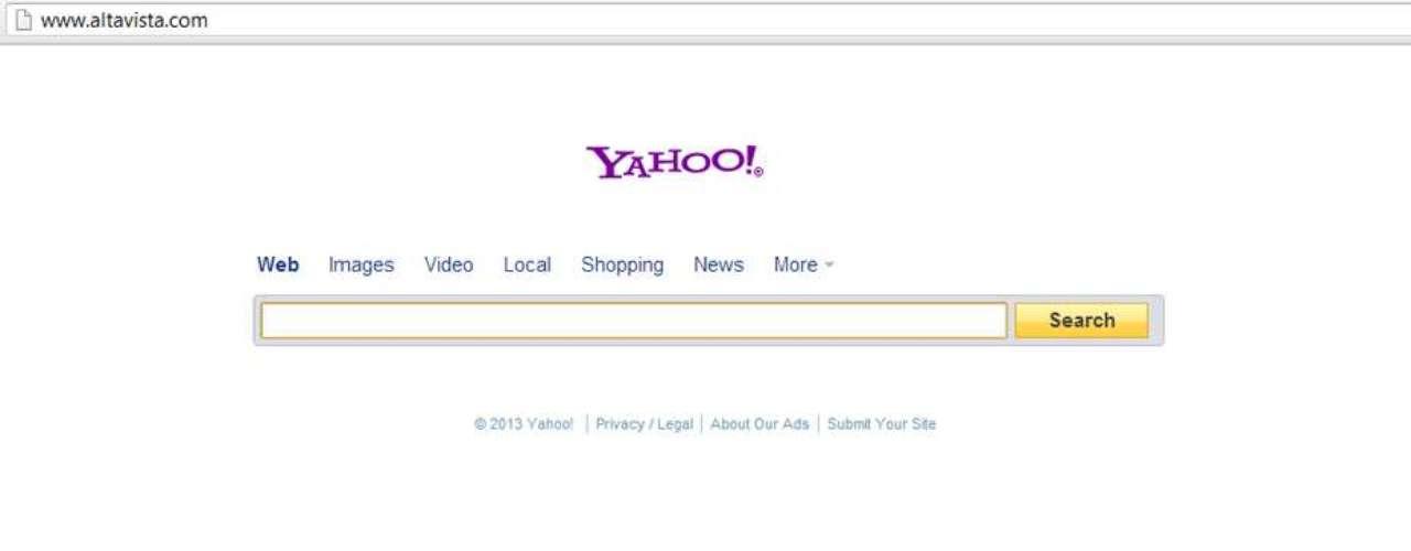 Com nome que faz referência à paisagem que cerca Palo Alto, na Califórnia, o AltaVista se popularizou pela interface minimalista e pelo mecanismo à época inovador de indexação da web. Dois anos após o lançamento, o site já tinha 80 milhões de cliques diários, mas uma estratégia que não deu certo - de transformar o site em portal e tirar o foco das buscas -, somada à bolha da internet dos anos 2000 e à entrada do Google no segmento, levou o site à falência