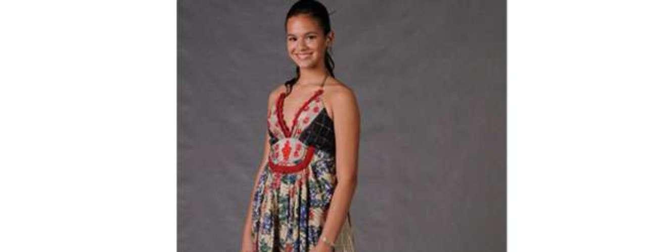 Em 2008, no show de final de ano do Roberto Carlos na Globo, Bruna apostou em um vestido florido. \