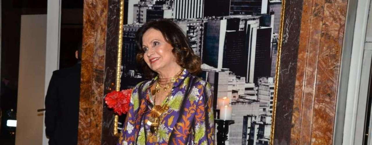 Rosa Maria Murtinho foi a um buffet, em São Paulo, para o lançamento oficial da nova trama das 21h, 'Amor à Vida'