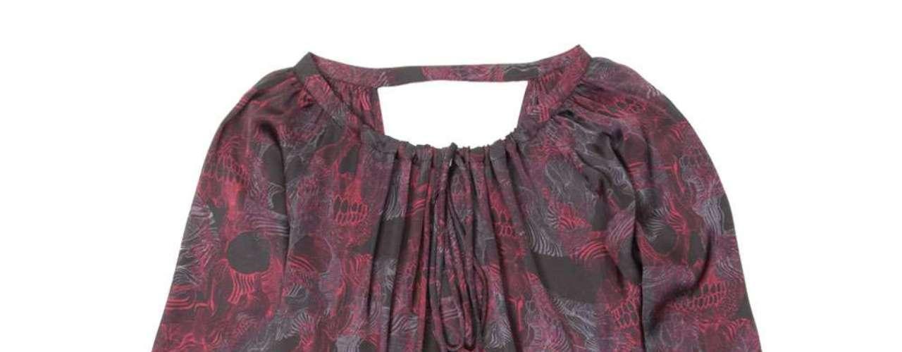Blusa em seda estampada da John John. Preço: R$ 298. Informações: (11) 3061-9906
