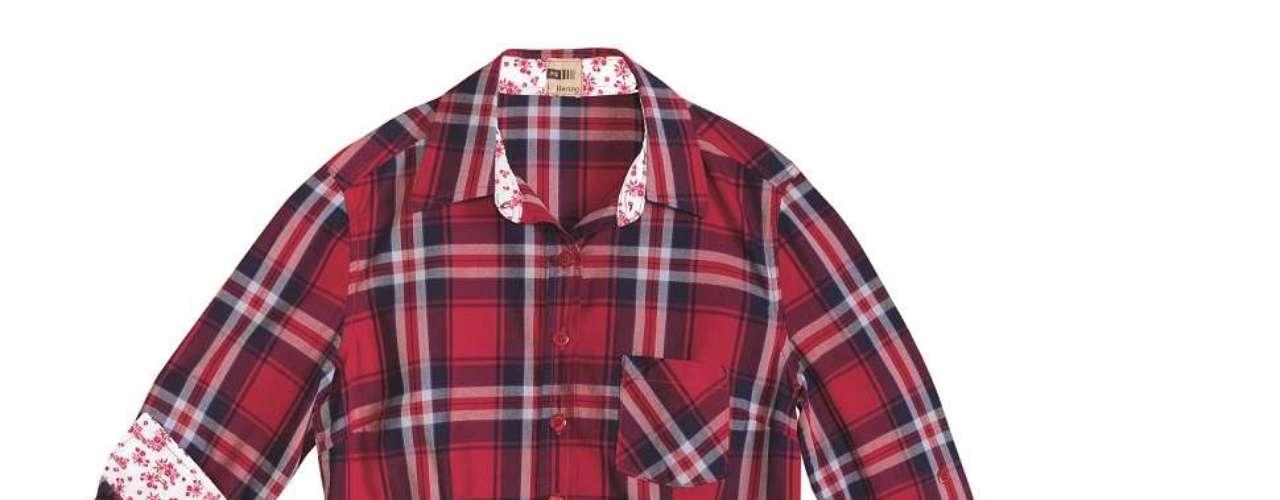 Camisa xadrez da Hering. Preço: R$ 99,99. Informações: 0800-473114