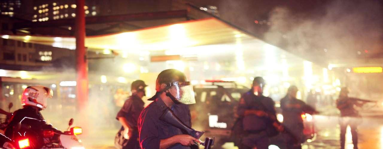 11 de junho -Polícia entrou em confronto com parte dos manifestantes