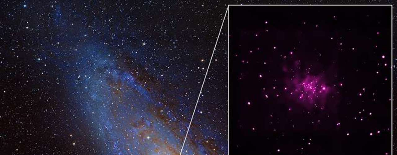 Nagaláxia deAndrômeda, foram identificados 26 possíveis buracos negros: o maior número já encontrado em uma galáxia fora da Via-Láctea.-
