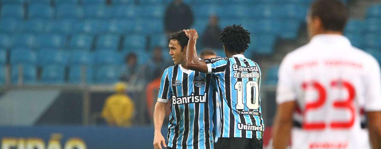 Kleber salvou o Grêmio de uma derrota em casa
