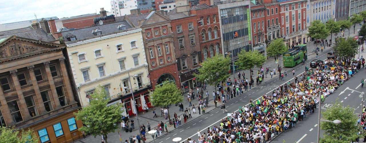 16 de junho -O ato foi chamado de Brazilian Awakening Dublin