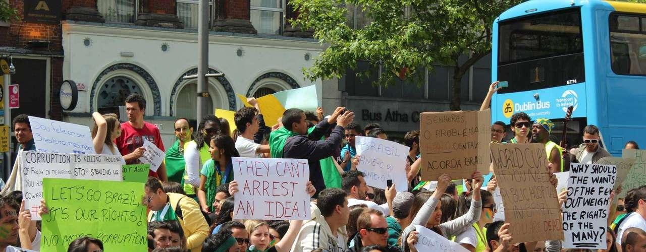 16 de junho -A ação ocorreu entre 13h e 16h, no horário de Dublin