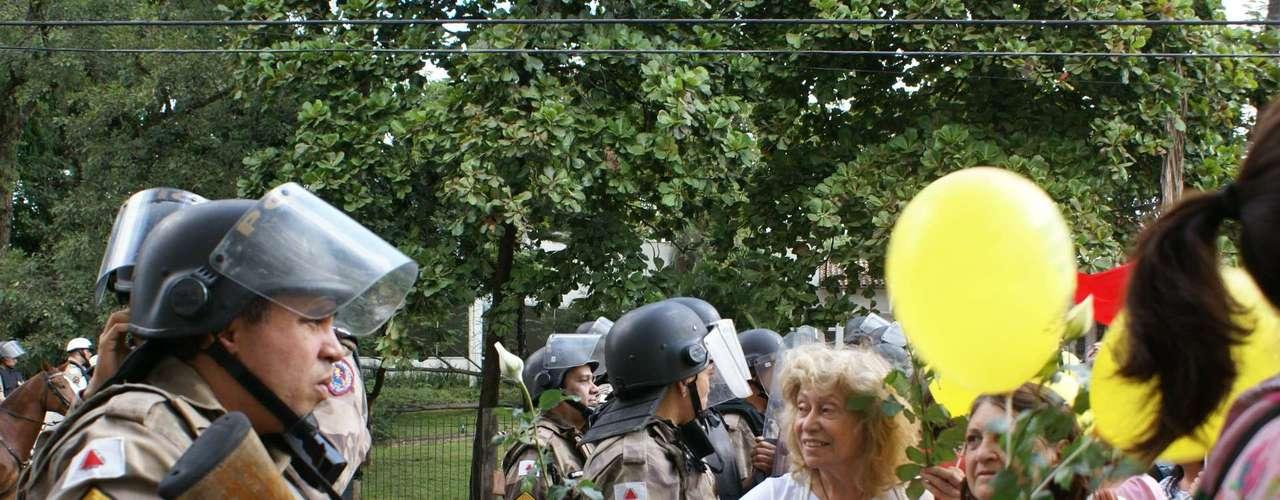 17 de junho Os protestos foram realizados também contra os gastos com a Copa das Confederações em Minas Gerais
